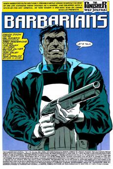 Extrait de Punisher War Journal Vol.1 (Marvel comics - 1988) -44- Barbarians