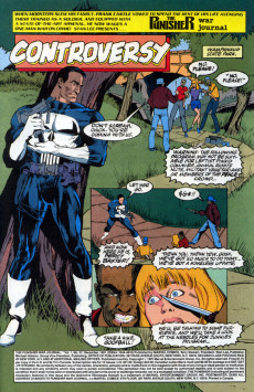Extrait de Punisher War Journal Vol.1 (Marvel comics - 1988) -37- Controversy