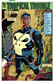 Extrait de Punisher War Journal Vol.1 (Marvel comics - 1988) -17- Tropical trouble