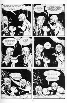 Extrait de Bone (Smith, chez Delcourt, en noir et blanc) -4- La Nuit des rats-garous