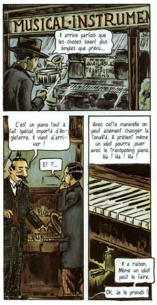 Extrait de BD Ciné -8- One Night on Broadway with Irving Berlin