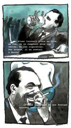 Extrait de BD Jazz - Django Reinhardt