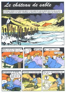 Extrait de Bob et Bobette (Publicitaire) -Ag3- Le château de sable