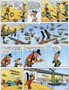 Extrait de Lucky Luke -63- Le pont sur le Mississipi
