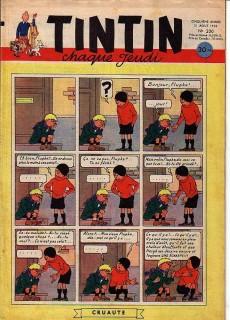 Extrait de (Recueil) Tintin (Album du journal - Édition française) -12- Tintin album du journal