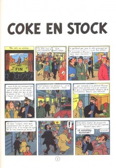 Extrait de Tintin -19- Coke en stock