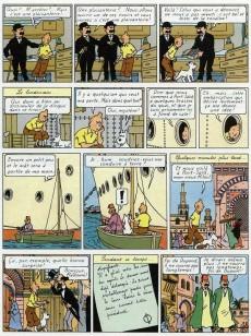 Extrait de Tintin (Fac-similé couleurs) -4- Les cigares du pharaon