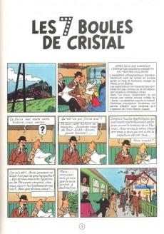 Extrait de Tintin -13- Les 7 boules de cristal