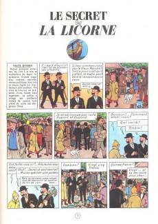 Extrait de Tintin -11- Le secret de la licorne