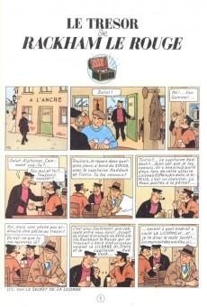Extrait de Tintin -12- Le trésor de Rackham le Rouge