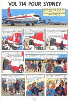 Extrait de Tintin -22- Vol 714 pour Sydney