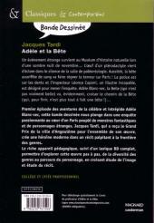 Verso de Adèle Blanc-Sec (Les Aventures Extraordinaires d') -1Sco- Adèle et la Bête