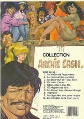 Verso de Archie Cash -5a- Cibles pour long-thi