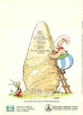 Verso de Astérix (Publicitaire) -Giph03- La chasse aux dangers en vacances d'été