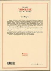 Verso de (AUT) Baudoin, Edmond -3- Théorème