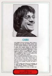 Verso de (DOC) Carton - Les cahiers du dessin d'humour -4- Cabu