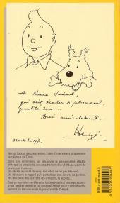 Verso de (AUT) Hergé -1c- Tintin et moi (entretiens avec hergé)