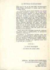 Verso de (AUT) Savard - La Bataille d'Angleterre