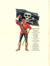 Verso de Barbe-Rouge -14- Le pirate sans visage