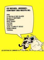 Verso de (Recueil) Bédémix -1- Album n°1