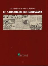 Verso de Blake et Mortimer (Publicitaire) -18BNP- Le sanctuaire du Gondwana