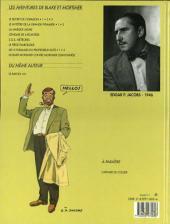 Verso de Blake et Mortimer (Les Aventures de) -3b1997- Le Secret de l'Espadon - Tome 3