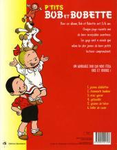 Verso de Bob et Bobette (P'tits) -6- Bulles de savon