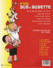 Verso de Bob et Bobette (P'tits) -9- Vroum, vroum !