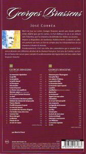 Verso de BD Chanson -6- Georges Brassens