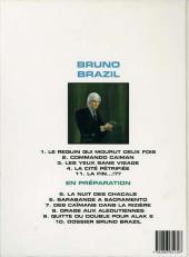 Verso de Bruno Brazil -4d1997- La cité pétrifiée