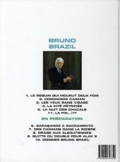 Verso de Bruno Brazil -5c1998- La nuit des chacals