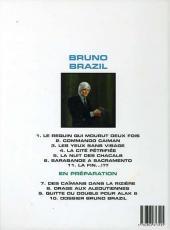 Verso de Bruno Brazil -6c1999- Sarabande à Sacramento