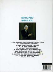 Verso de Bruno Brazil -10c2001- Dossier Bruno Brazil