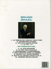 Verso de Bruno Brazil -2e1997- Commando Caïman