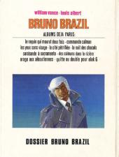 Verso de Bruno Brazil -10'- Dossier Bruno Brazil