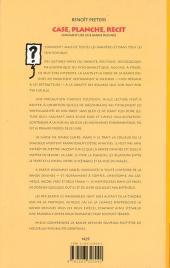 Verso de (AUT) Peeters, Benoît - Case, planche, récit - Comment lire une bande dessinée