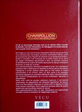 Verso de Champollion et le secret des hiéroglyphes - Champollion et le Secret des hiéroglyphes