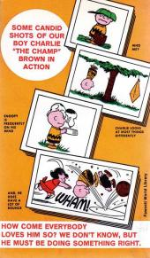 Verso de Charlie Brown (en anglais) -2- You are too much, Charlie Brown