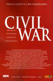 Verso de Civil War - Tome 5VC