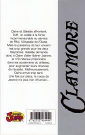 Verso de Claymore (Yagi) -9- Le gouffre de l'enfer