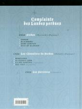 Verso de Complainte des Landes perdues -3b- Dame Gerfaut