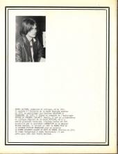 Verso de (DOC) Études et essais divers - Avanies et mascarades - L'Évolution de la bande dessinée en France dans les années 70