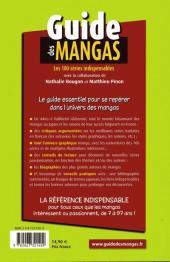 Verso de (DOC) Conseils de lecture - Guide des mangas - Les 100 séries indispensables
