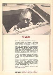 Verso de (DOC) Carton - Les cahiers du dessin d'humour -2- Chaval