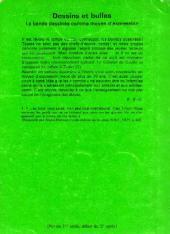 Verso de (DOC) Études et essais divers - Dessins et bulles : la bande dessinée comme moyen d'expression