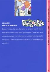 Verso de Dragon Ball -5- Le maître des arts martiaux