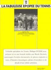 Verso de La fabuleuse Épopée du tennis - La Fabuleuse Épopée du tennis