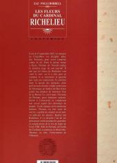 Verso de Les fleurs du Cardinal Richelieu