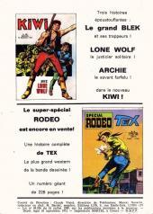 Verso de Futura (1e Série - LUG) -2- Jaleb le Télépathe : Police secrète