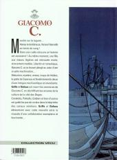 Verso de Giacomo C. -1b97- Le masque dans la bouche d'ombre